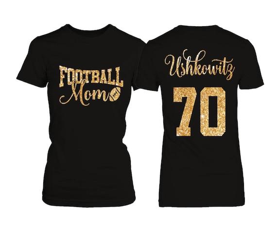 Personalized football mom t shirt for Custom youth t shirts no minimum