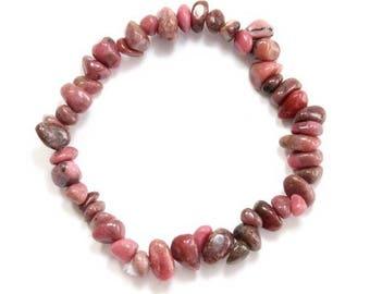 Baroque rhodonite bracelet