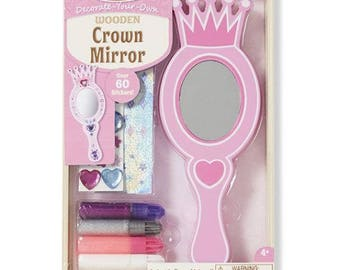 1 kits to make a mirror with Rhinestones and glitter