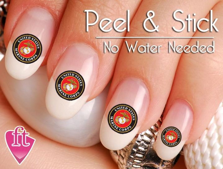 United States Marine Nail Art Sticker Set MAR102