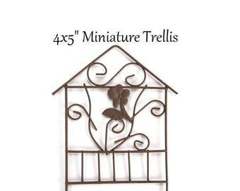 Miniature Garden Trellis for Fairy Gardens