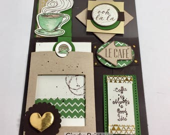 Coffe Themed embellishments fir planner, scrapbooking and cardmaking