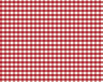 """ON SALE Riley Blake Designs 1/4"""" Woven Gingham Red"""