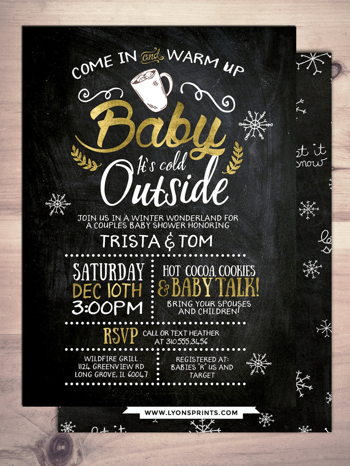 Baby it\'s cold outside invitation, Winter baby shower invitation ...
