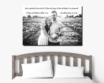 Wedding Vow Keepsake - Framed - Wedding Vows Framed - 1st Anniversary Gift - Framed Wedding Vows - Wedding Vows Frame - Gift for newlyweds