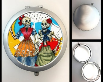 Compact Mirror Day of the Dead Skeleton Girls #269