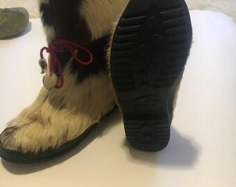 Women's goat fur boots