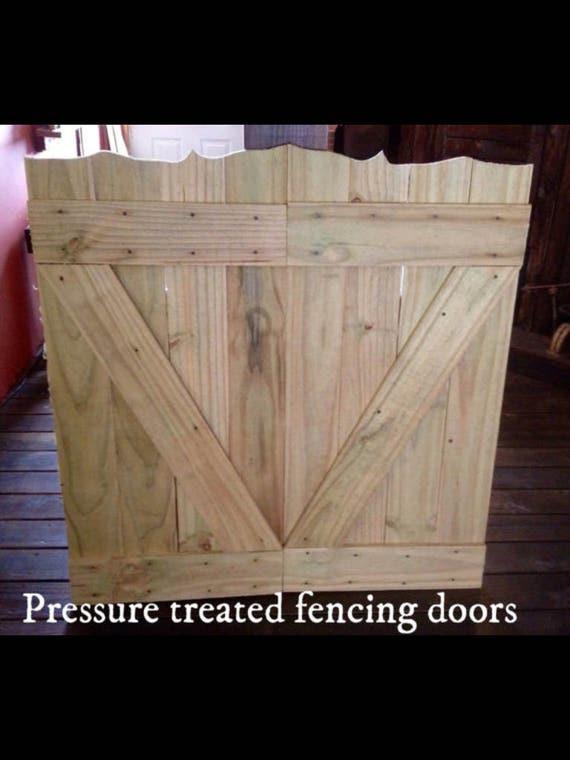 & Rustic Wood Saloon Doors Pressure Treated Fencing Wood Doors