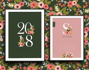 2018 Floral Calendar - Digital  files