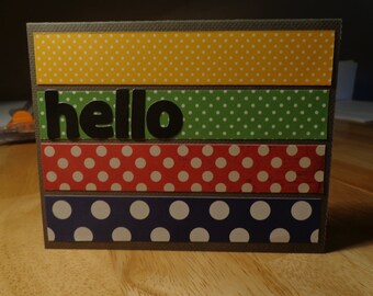 Polka dot hello card