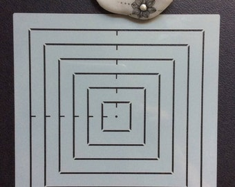 Mandala stencil to create a substructure