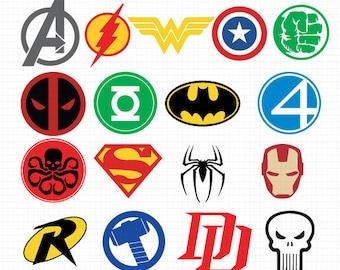 super hero logo svgs etsy rh etsy com create hero logo create hero logo
