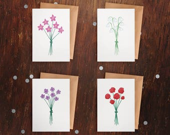 Little Flowers Mini Cards