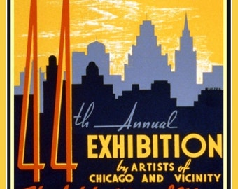 Art Print Chicago Art Institute 1940 Poster Print