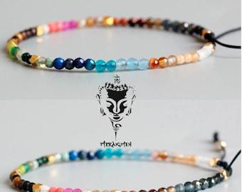 7 Chakra bracelet, reiki bracelet, chakra bracelet, agate bracelet, yoga bracelet, meditation bracelet, healing bracelet, lucky bracelet