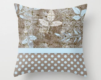 Outdoor Pillow Cover with Pillow Insert, Outdoor Pillow, Paris and Polka Dots