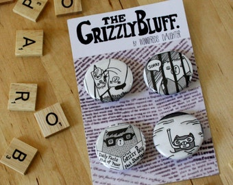 Grizzly Bluff Badge Collection & Mini Zine Pack by Winnifreds Daughter