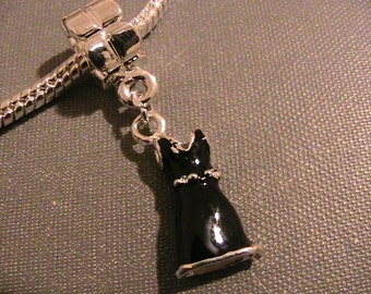 Little Black Dress Dangling Charm fits European Bracelets (bracelet not included)