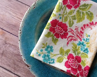 "Floral Asian, 12""x12"" Cotton Napkins, Set of 6"