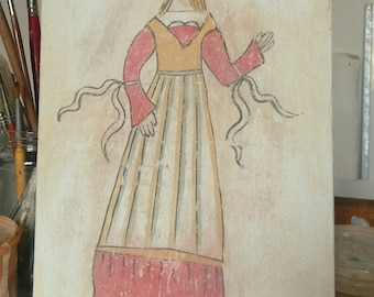 Fresco woman