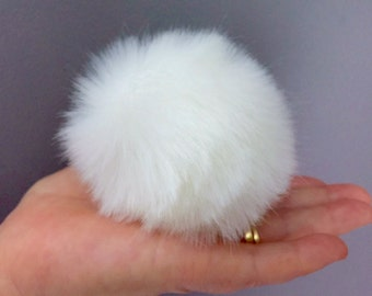 8cm Variety of Colours Faux Fur Pompoms