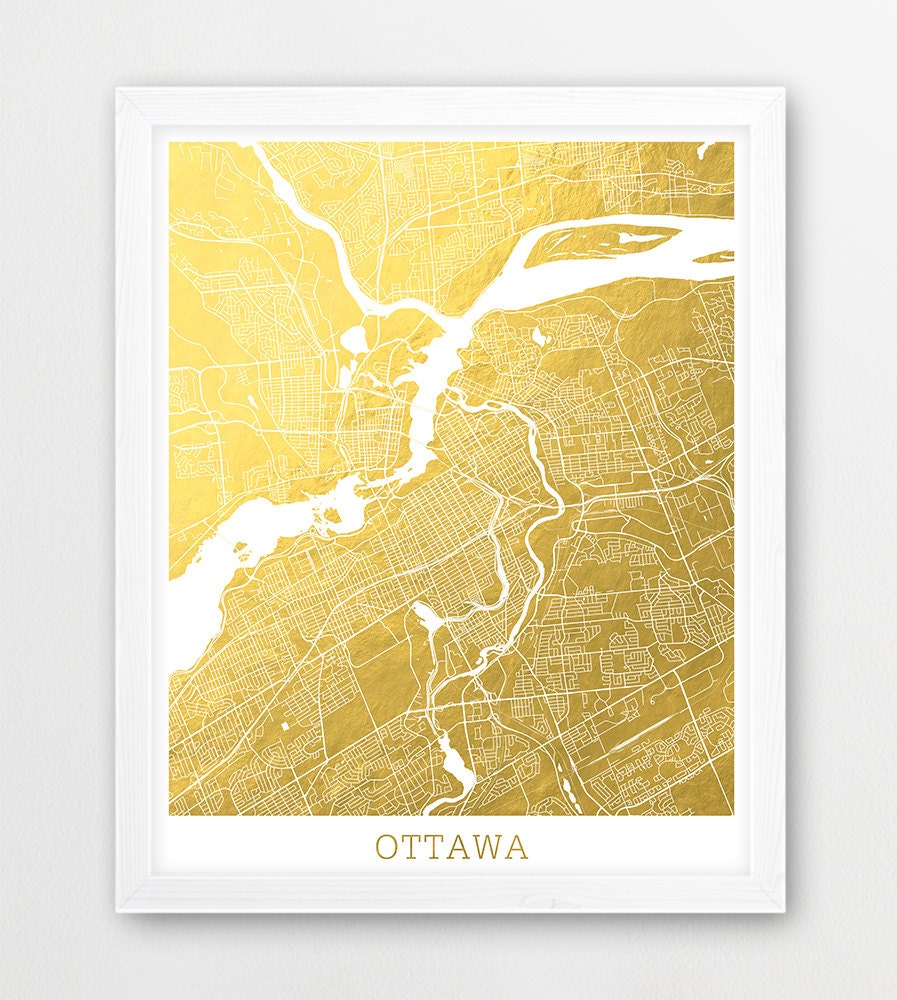 Ottawa Map Print Ottawa City Street Map Poster Urban Map