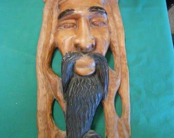 Great Rastafarian Wood Carving Wall Plaque #3
