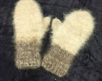 Mittens Made From Dog Hair