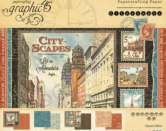 Graphic 45 Cityscapes 8x8 Paper Pad, SC007612