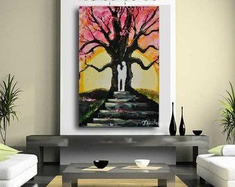 """Modern Art / Acrylic Art / Original painting / Art Gallery /Modern Art/ Ready to hang / 48"""" X 32"""" / by Janna"""
