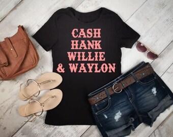 Cash Hank Willie & Waylon Womens Shirt