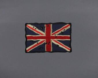 Old Vintage Tattered United Kingdom Flag Patch