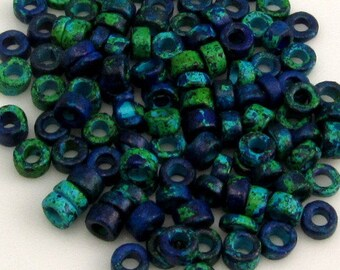 Greek Ceramic Large Seed Beads, 3-mm, Aegean Mix, 100 Pieces M272