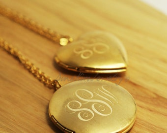 New Personalized Locket Monogram Pendant Necklace Photo Box Jewelry 18K Gold Plating Special day  Birthday Gift