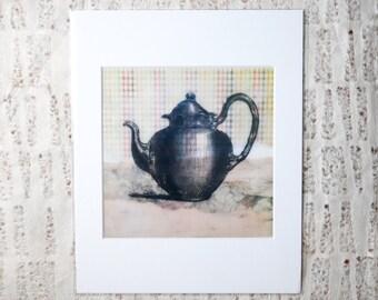 Southern Style, Vintage, Kitchen Art: Teapot Fine Art Print
