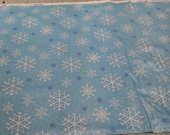 Snowfall Blue Cotton Fabric from Michael Miller
