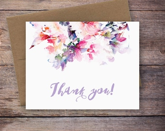 Printable Thank You Card - Instant Download Greeting Card - Thank You Instant Download - Wedding Card