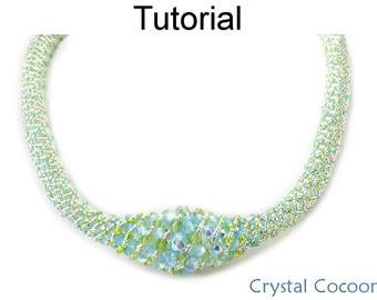 Beading Tutorial Pattern - Beaded Necklace - Russian Spiral Stitch - Simple Bead Patterns - Crystal Cocoon #18596