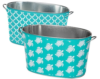 Reversible Cover - Galvanized Tin Tub with Neoprene Cover - Party Tub