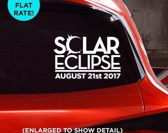Solar Eclipse August 21st 2017 commemorative car vinyl decal! Sticker for Cars, Laptops, Walls, Mugs