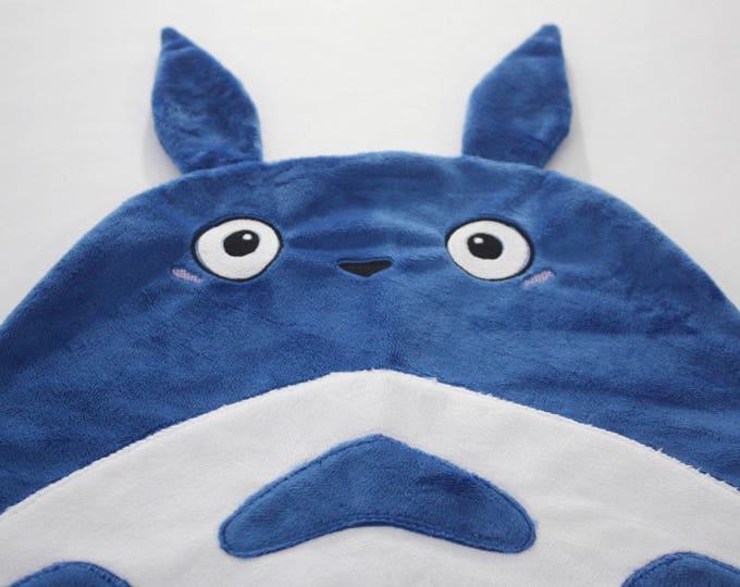 Totoro baby blanket--Blue Chu Totoro security blanket--Blue Totoro security blanket