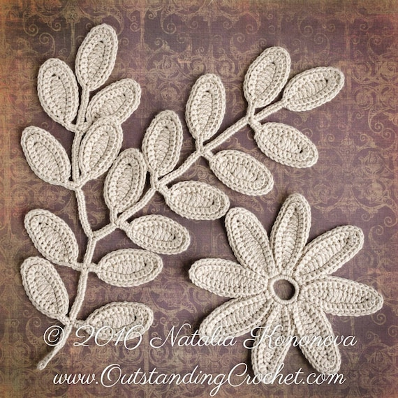Irish crochet applique pattern fantasy flower leaf lace irish crochet applique pattern fantasy flower leaf lace motifs embellishment home wall decor pdf dt1010fo