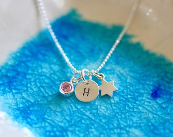 Bat Mitzvah Necklace - Bat Mitzvah Gift - Initial Necklace - Jewish Star - Star of David - Gift For Her - Bat Mitzvah Gift - Jewish Gift
