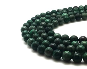 9mm Natural Green Calamine Beads Round 9mm Green Calamine 9mm Calamine 9mm Green Beads Green Mala Green Beads 9mm 9 mm Beads