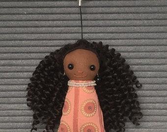 Brown Doll Keychain/Bag Charm
