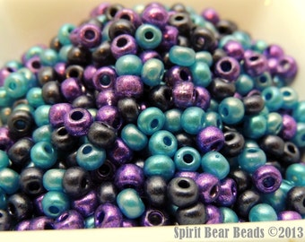 In A Galaxy Far Far Away  bead mix Size 6/0 Purple color of the YEAR