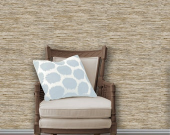 Faux Grasscloth Easy to Apply Removable Peel 'n Stick Wallpaper