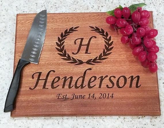 Personalized Cutting Board Wedding Gift Bridal Shower Gift Cutting Board Wedding Gift Custom Cutting Board Housewarming Gift Anniversary