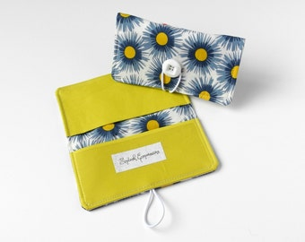 Checkbook Cover, Checkbook Wallet, Checkbook Holder, Duplicate Checks, Mini Wallet, With Register, Fabric Cover, Colorful Checkbook, Floral