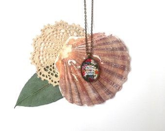 FAITH (Hebrew) // Romantic Vintage Necklace //